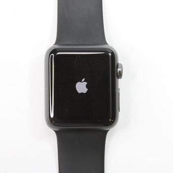 Apple Watch With Black Rubber Band