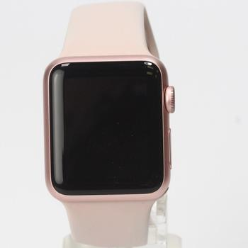 Apple Watch With Pink Rubber Band