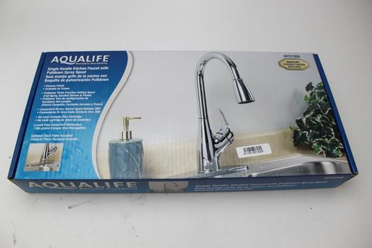 Aqualife Single Handle Kitchen Faucet With Pullodwn Spray Spout