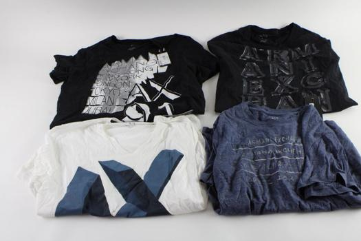 Armani Exchange T-Shirts, S And M, 4 Pieces
