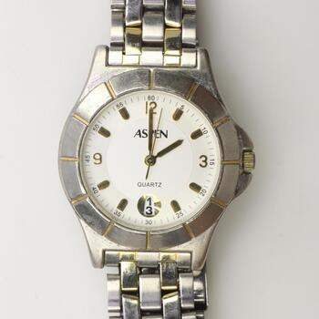 Aspen Quartz Two Tone Watch