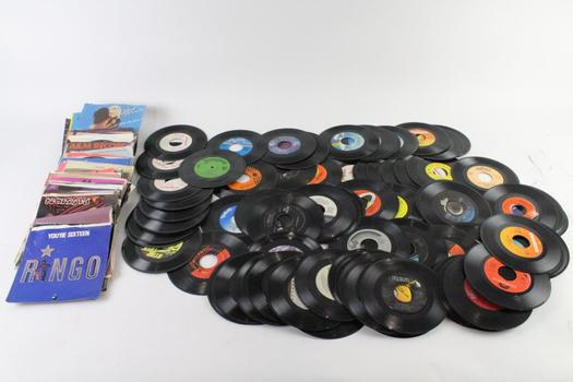 Assorted 45 Records, 50+ Pieces