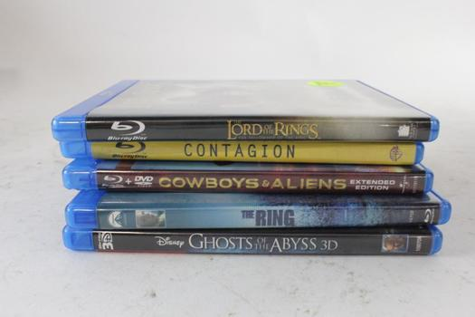 Assorted Blu-Ray And DVD Movies, 5 Pieces
