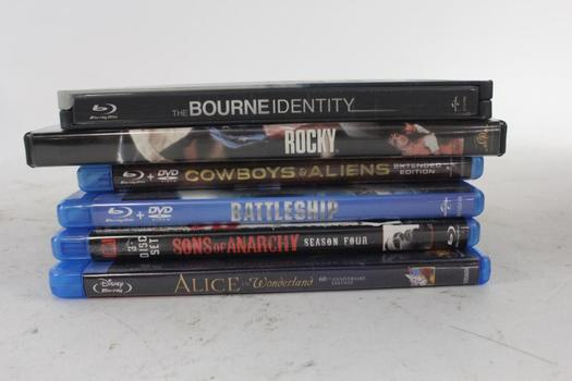 Assorted Blu-Ray And DVD Movies, 6 Pieces