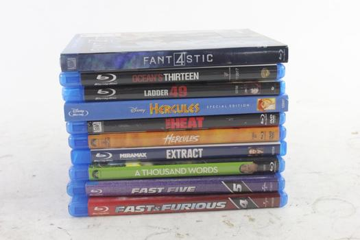 Assorted Blu-ray Movies, 10 Pieces