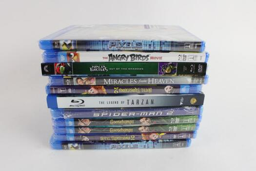 Assorted Blu-Ray Movies, 11 Pieces