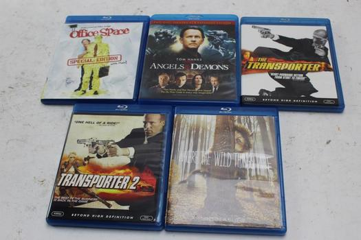 Assorted Blu-ray Movies, 5 Pieces