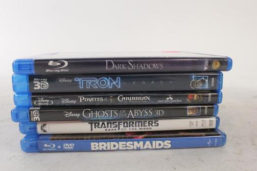 Assorted Blu-Ray Movies, 6 Pieces