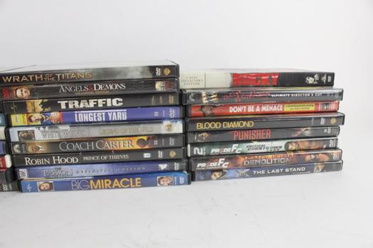 Assorted DVD Movies, 35 Pieces