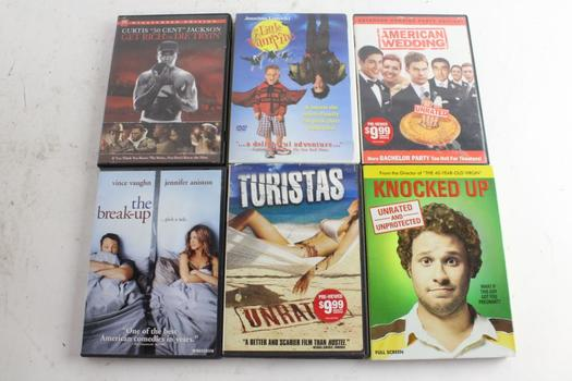 Assorted DVD Movies, 6 Pieces