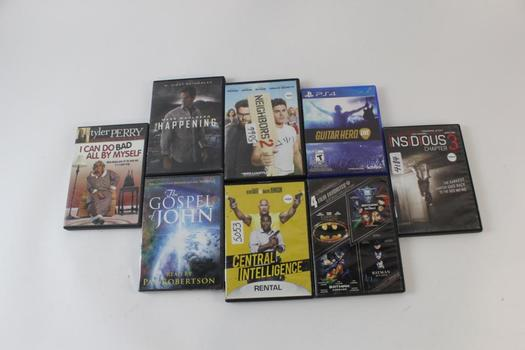 Assorted DVD Movies, 7 Pieces, And More