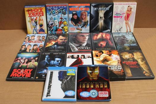 Assorted [dvds/blu-ray] Movies, 20 Plus Pieces