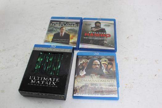 Assorted [dvds/blu-ray] Movies, 4  Pieces