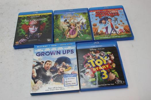 Assorted [dvds/blu-ray] Movies, 5 Pieces