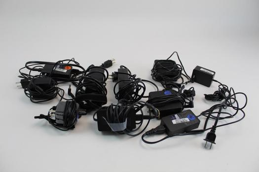 Assorted Earphones & Ac Adapters; 5+ Pieces