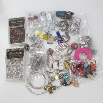 Assorted Jewelry Making Items, Over A Pound