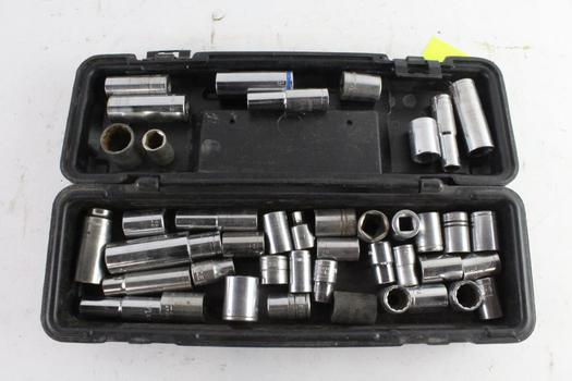 Assorted Sockets, 25+ Pieces