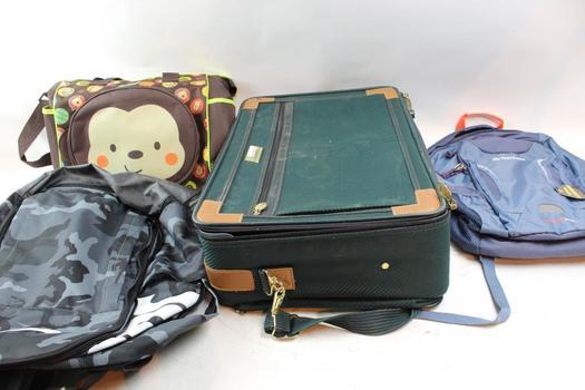 Atlantic Suitcase, Nike / Outdoor Backpack, Babyboom Diaper Bag: 4 Items