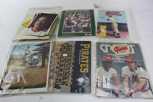 Autographed Photo By Ron Oester, Starline + More Assorted Sports Memorabilia  10+ Pieces