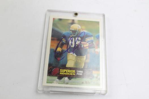 Autographed Superior Rookies Chris Penn Football Card