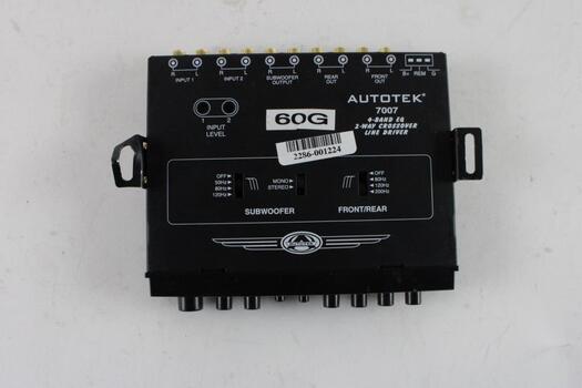 Autotek 7007 4-Band EQ 2-Way Crossover Line Driver