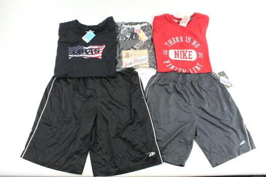 Avia,Levis, Nike, My Philippines, Proplayer Shorts Tshirts 5 Pieces Size Medium