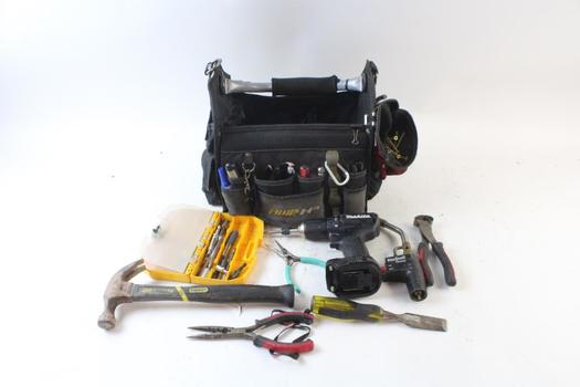 AWP HP Tool Bag With Tools, 10+ Pieces