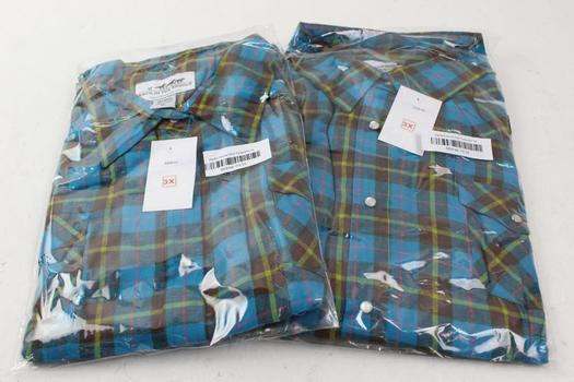 Back In The Saddle Men's Shirts, Size 3X, 2 Pieces