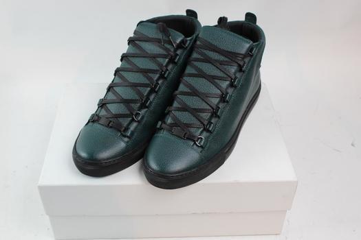 Balenciaga Green Mens Stingray Hight Top Sneakers