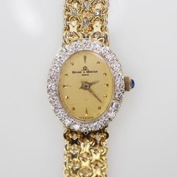 Baume & Mercier 14k Gold And Diamond Watch - Evaluated By Independent Specialist