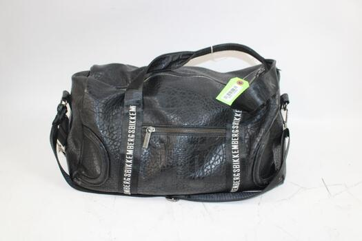 Bikkembergs Black Leather Duffel Bag With High Sierra Waterproof Boots Size 7.5, And More 5 Pieces Total