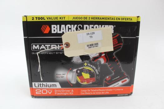 Black And Decker BDCDMT120FL Matrix Drill/Driver & Flashlight Kit