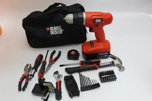 Black And Decker Drill With Assorted Tools 10+ Pieces