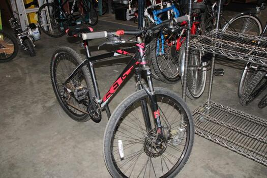 Black And Red Felt Mounrtain Bike