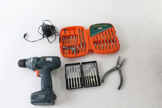 Black & Decker Cordless Drill And Pliers