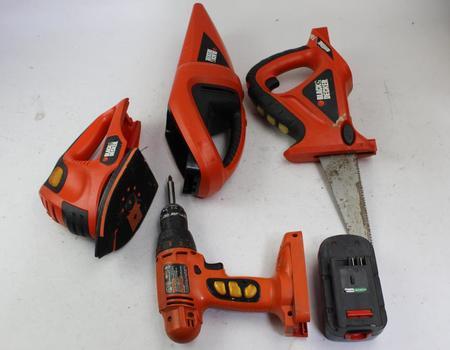 Black & Decker Cordless Hand Vacuum, Drill, & More; 3+ Pieces