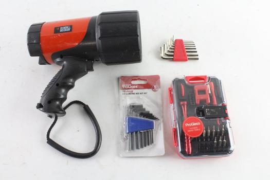 Black & Decker Flashlight And More, 3 Pieces