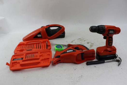 Black & Decker Power Saw, Portable Vacuum, Drill