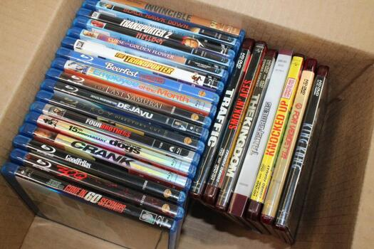 Black Hawk Down, Hellboy, The Last Samurai, Troy, Crank, 300, And Other Blu-Ray And HD-DVD Movies, 24 Pieces