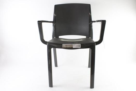 Black Stacking Arm Chair