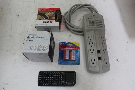 Bluetooth Keyboard, Revotech Hd Video Security Camera, & More; 5 Pieces