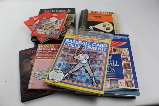 Books: Topps Baseball Cards, John Elway Plaque, Cracker Jack And More: 5+ Items