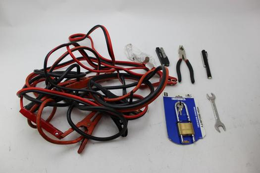 Booster Cables, Folding Knives, Schumacher Battery Charging Wire Harness, & More; 5+ Pieces