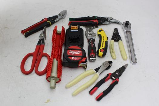 Bostitch 18V Battery Pack, Milwaukee 25ft Measure Tape And More Various Tools