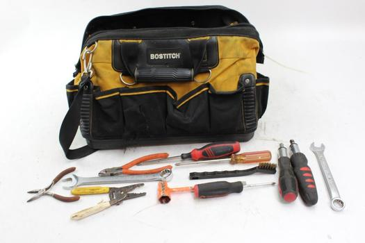 Bostitch Tool Bag With Assorted Tools 10+ Pieces