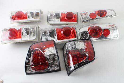 Box Of Vehicle Tail Lights, 6 + Pieces