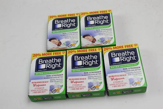 Breathe Right Nasal Strips 5 Pieces
