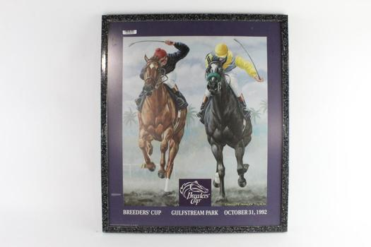 Breeders' Cup Framed Poster, 10/31/1992