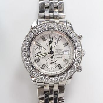 Breitling 5.94ct TW Diamond Chronomat Evolution Watch - Evaluated By Independent Specialist
