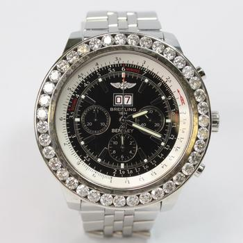 Breitling Bentley 7ct TW Diamond Watch - Evaluated By Independent Specialist
